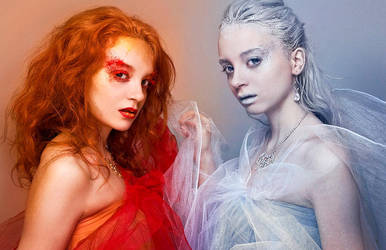 Fire VS Ice by ScorpionEntity