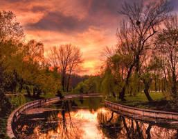 Warm sunset by ScorpionEntity