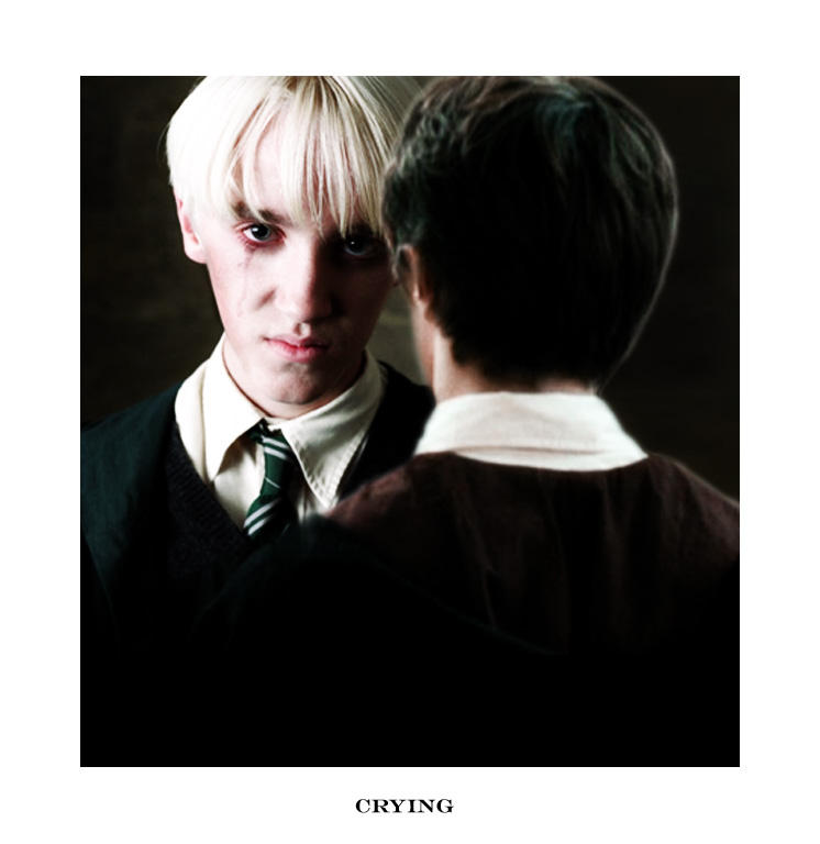Draco crying by Ch4ron