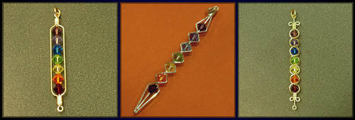 3 More Chakra Rainbow Pendants by MajorTommy