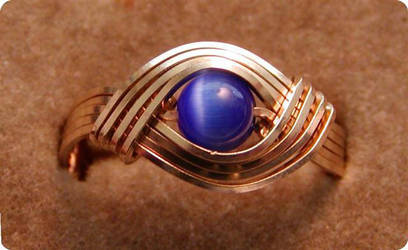 Blue Fiber Optic Eye Ring by MajorTommy