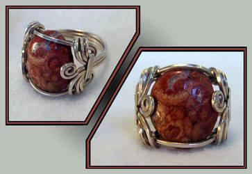 Silver Mystery Stone Ring by MajorTommy