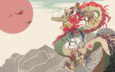 Mountainside Dragon by zylanthe