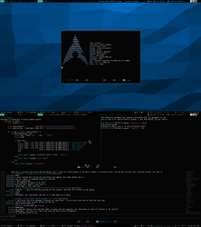 Archlinux + Awesome WM (Aug 13, 2013) by intelfx
