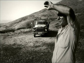 man and car by eclecte