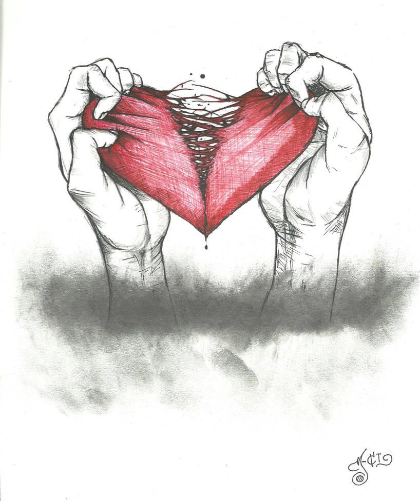 Corazon Roto Dibujo A Lapiz Tumblr