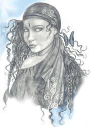 gypsy and butterfly by darkbanshee