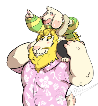 Asgore and Asriel Fun time! request #15 (also old) by Zephurous