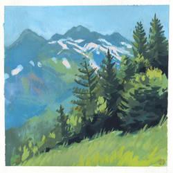 Swiss Mountains - en Plein air by LukasDamgaard