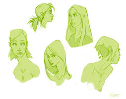Sketch Dumps_Women02 by Ikameka