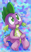 Spike the Dragon by mywatercolorheart