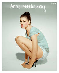 Colorize Anne Hathaway by JustALittleDreamer