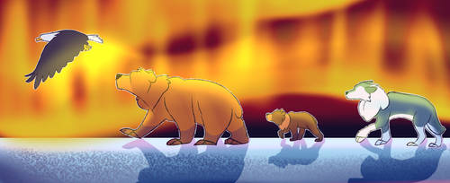 A Bear and his Brothers by spazzyArtist1999