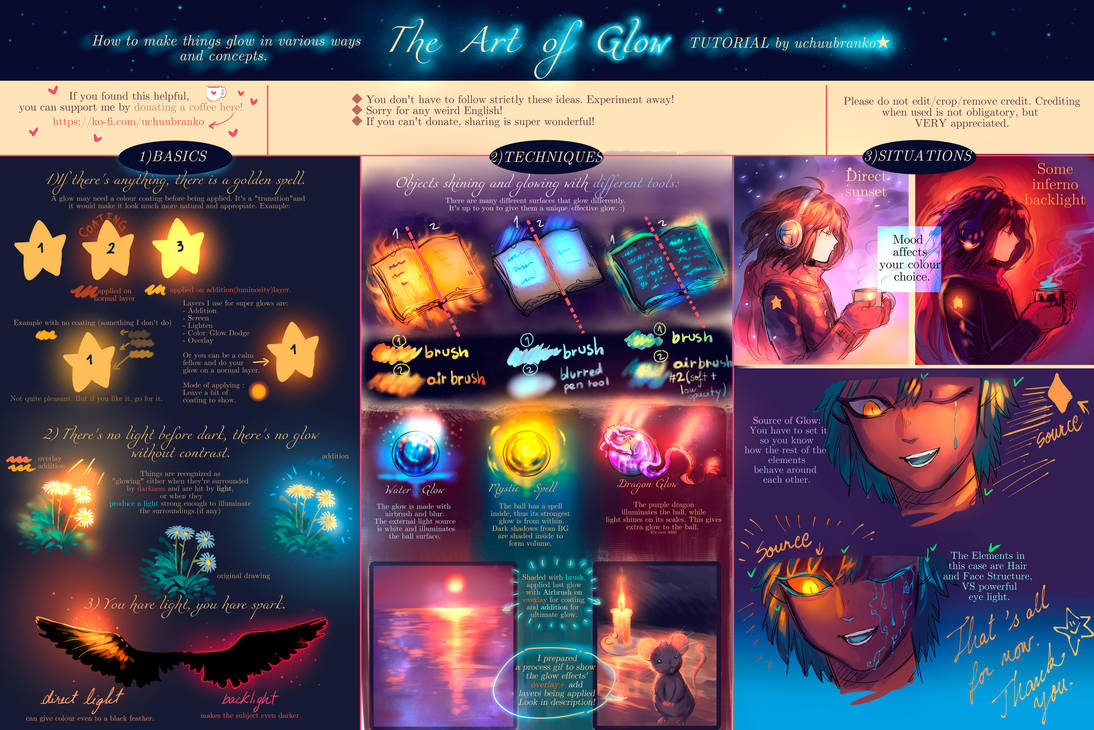 The Art of Glow [TUTORIAL on Glowing Effects ] by uchuubranko