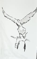 Inktober 2017 days 9+10 : Screech + Gigantic by Owl-On-Tree