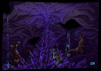Purple caves by Sakamerel