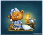 Sleepy Bear Cub by LiaSelina