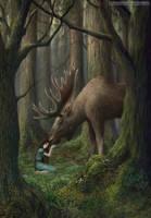 Moose Fairytale by LiaSelina