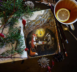 November Teatime by LiaSelina