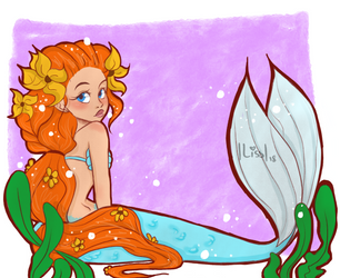 Sunflower mermaid by That-Artist-Chick