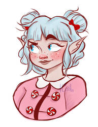 PepperMinty elf by That-Artist-Chick