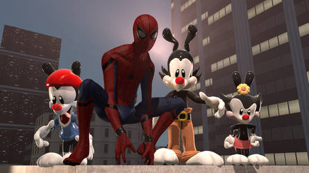 Spider-Man And The Animaniacs by AngryGermanKidoble