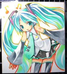 Hatsune-Miku by kamiyoshi