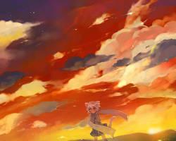 sunset thoto by kamiyoshi