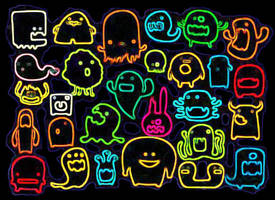 Glowing Monsters by ryanwell