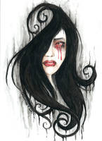 Bleeding tears by Crisantemo