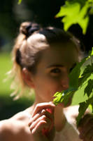Hiding Behind The Leaves by piperblush