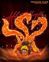 Three-tailed Naruto by Batanga
