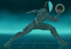Combatant 3 vs. Rinzler by Sketchviper