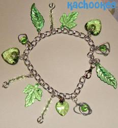 Green Charm Bracelet by kachookee