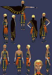 Skyward Sword: Impa Reference (updated) by ShrubbyNerb