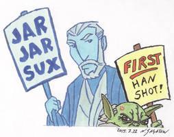 Old Jedi by trippinspacemonkeys