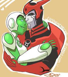 Razaaaaaaya hugs by GiselleRocks