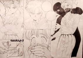 Cloroformo: Lita Kino (Sailor Jupiter) / Boceto. by Dxmian