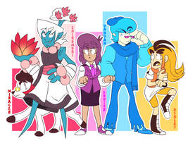 Genderbend Team by Mannievelous