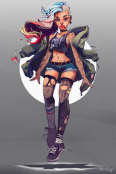 Super Punk by Akaggy