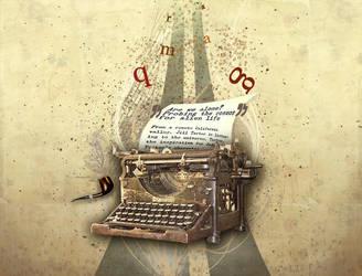 Typewriter by marame