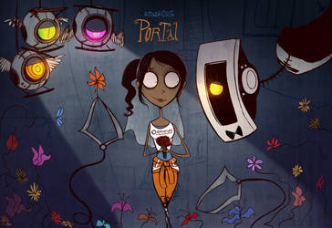 Portal | The Bride of GLaDOS by Atlas-White
