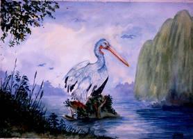 a bird in the sanctuary... by Shashikanta