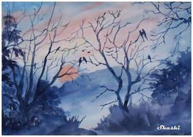 Sunset by Shashikanta