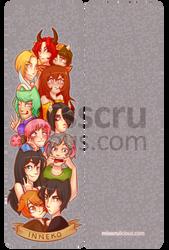 Inneko Bookmark by misscrulicious