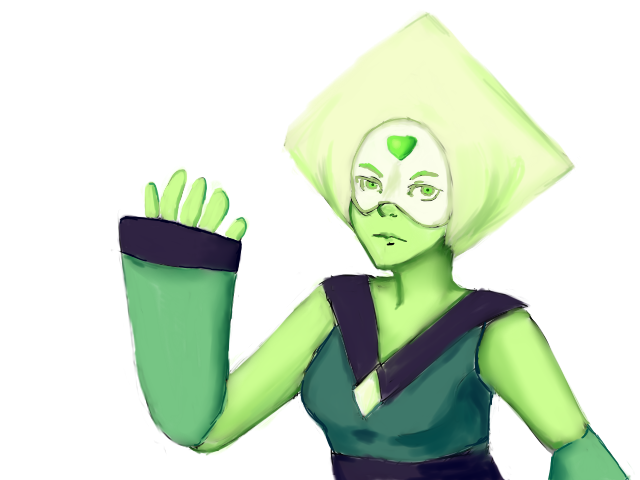 I wanted draw peridot and  well, here!  Do you wanna watch the speed painting? link: www.youtube.com/watch?v=o_24_a…