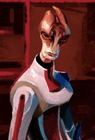 Mordin during the Omega years by ThunderheadFred