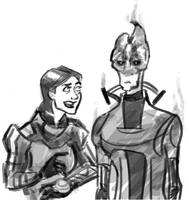 Expression Prompts - Shep and Mordin by ThunderheadFred
