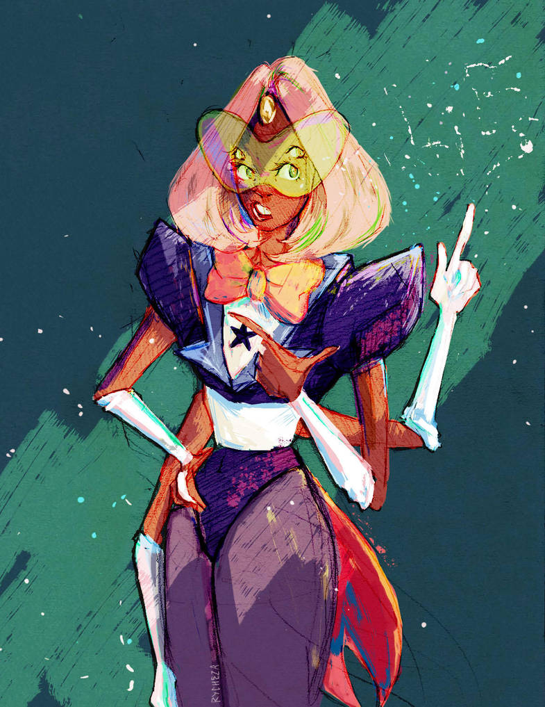 Villeiviant drew such a pretty Sardonyx that I needed to colour her. She convinced me that bob Sardonyx >>>> afro Sardonyx. Also on tumblr P.S. Look for lies in the dust.