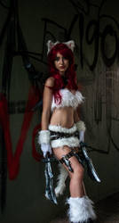 Kitty Cat Katarina Cosplay - League of Legends by AnissaCosplay